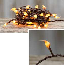 Mustard Silicone Dipped String Lights - 50 count