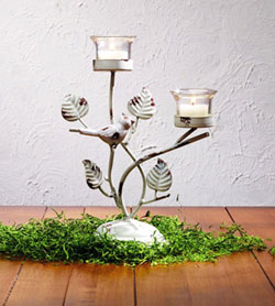 Bird Metal Tealight Holder