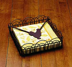 Rooster Luncheon Napkin Holder