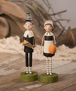 Harvest Pilgrim Couple (Set of 2)