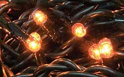 Orange Twinkle String Lights - 140 count