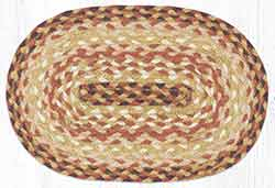 Terracotta Crock Braided Oval Tablemat