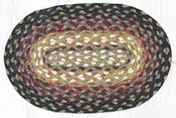 Bear Vineyard Braided Oval Tablemat