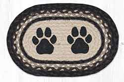 Paw Prints Printed Braided Oval Tablemat