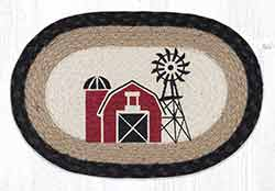 Windmill Printed Braided Oval Tablemat