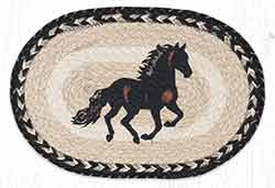 Stallion Printed Braided Oval Tablemat