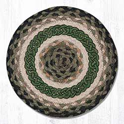 Irish Knot Braided Tablemat - Round (10 inch)
