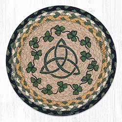 Irish Shamrock Braided Tablemat - Round (10 inch)