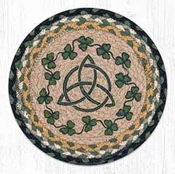 Irish Shamrock Braided Tablemat - Round (10 inch)
