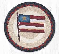 Primitive Star Flag 10 inch Tablemat