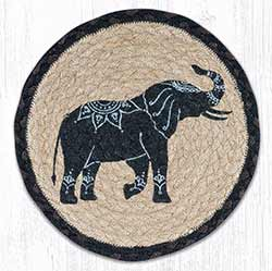 Elephant Braided Tablemat - Round (10 inch)