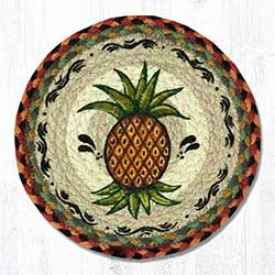 Pineapple Braided Tablemat - Round (10 inch)