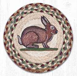 Vintage Rabbit Braided Tablemat - Round (10 inch)