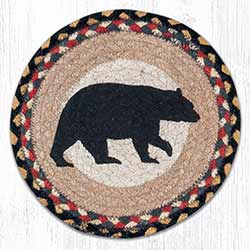 American Bear Braided Tablemat - Round (10 inch)