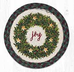 MSPR-508 Christmas Joy Wreath 10 inch Tablemat