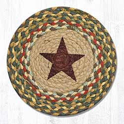 Gold Star Braided Tablemat - Round (10 inch)