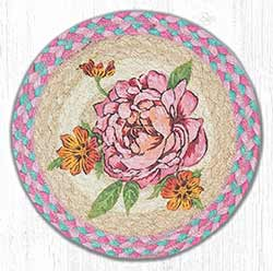 Flower Braided Tablemat - Round (10 inch)