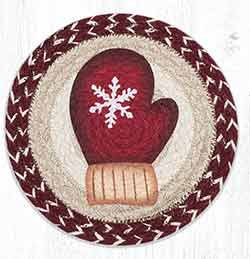 MSPR-9-117 Red Mitten 10 inch Tablemat