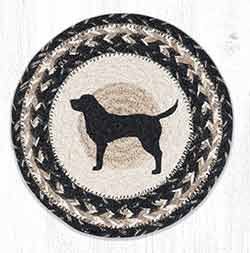 Black Lab Silhouette 10 inch Tablemat