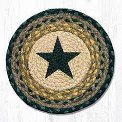 Black Star Braided Tablemat - Round (10 inch)