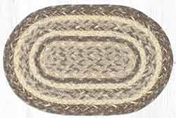 Khaki Braided Oval Tablemat