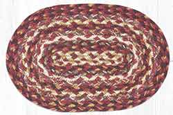Ruby Rose Braided Oval Tablemat