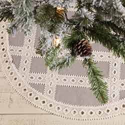 Margot Grey Mini 21 inch Tree Skirt
