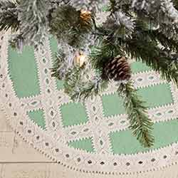 Margot Mint Mini 21 inch Tree Skirt