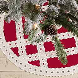 Margot Red Mini 21 inch Tree Skirt