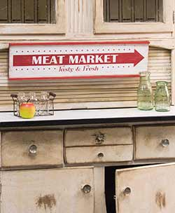 Vintage Meat Market Sign