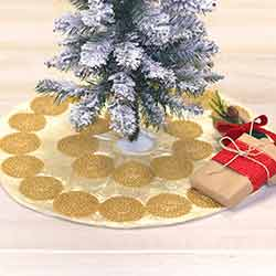 Memories Creme Mini 21 inch Tree Skirt