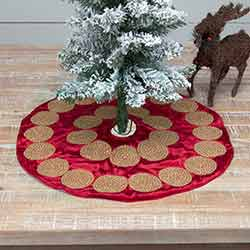 Memories Red Mini 21 inch Tree Skirt
