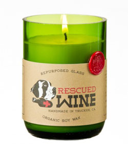 Merlot Rescued Wine Candle
