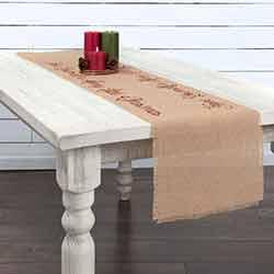 Merry Little Christmas Jute 72 inch Table Runner