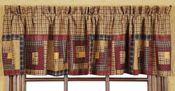 Millsboro Valance - Log Cabin Block Border