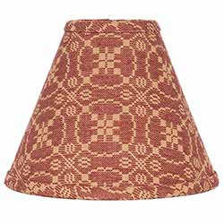 Marshfield Jacquard Red Lamp Shade - 10 inch