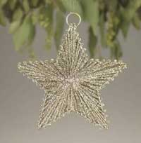 Glitter Wire Star Ornament