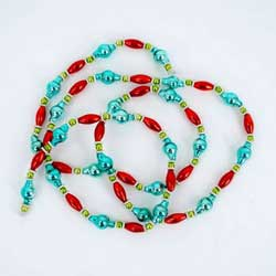 Red & Aqua Glass Garland