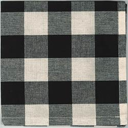 Buffalo Check Black Napkins (Set of 6)