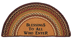 Napa Valley Jute Half Circle Rug - Blessings