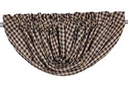 VHC Brands Navy Check Valance - Balloon