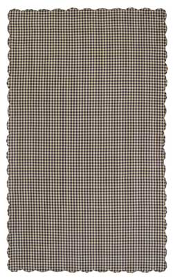Navy Check Tablecloth - 60 x 120 inch