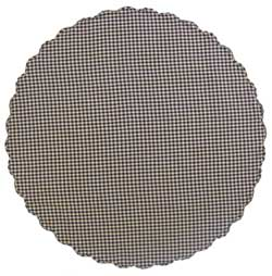 Navy Check Round Tablecloth - 70 inch