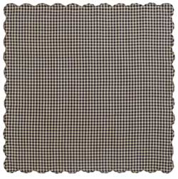 Navy Check Tablecloth - 60 x 60 inch