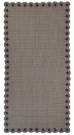 Navy Star Tablecloth - 60 x 120 inch