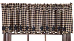 Navy Star Valance
