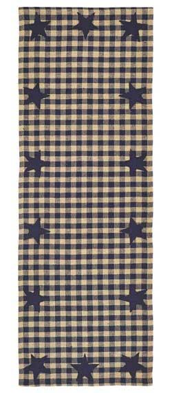 Navy Star Table Runner - 36 inch
