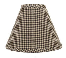 Newbury Black Gingham Lamp Shade - 12 inch