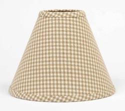 Newbury Oat Gingham Lamp Shade (Multiple Size Options)