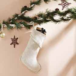 Nowell Creme 15 inch Stocking
